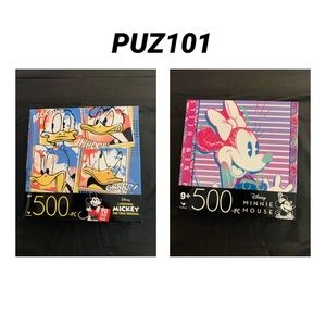 4 / $35 - 2 NEW 500 Pc Disney Puzzles (Minnie Mouse & Donald) - PUZ101